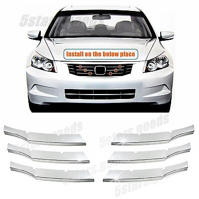 Accessories Chrome Front Center Grille Molding Trims For 2008-2010 Honda Accord for sale  China