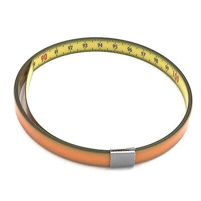 Skalenbandmaß Stahl links - rechts 10mm gelb Duplex selbstklebend 0,3m bis 20m  (Maßband Ende)
