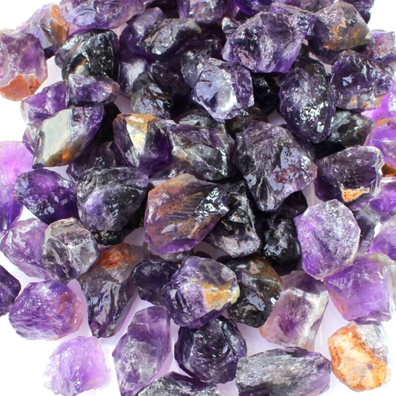 Wholesale Lot of Natural Earth Mined African Amethyst Gemstone Facet/ Cab Rough