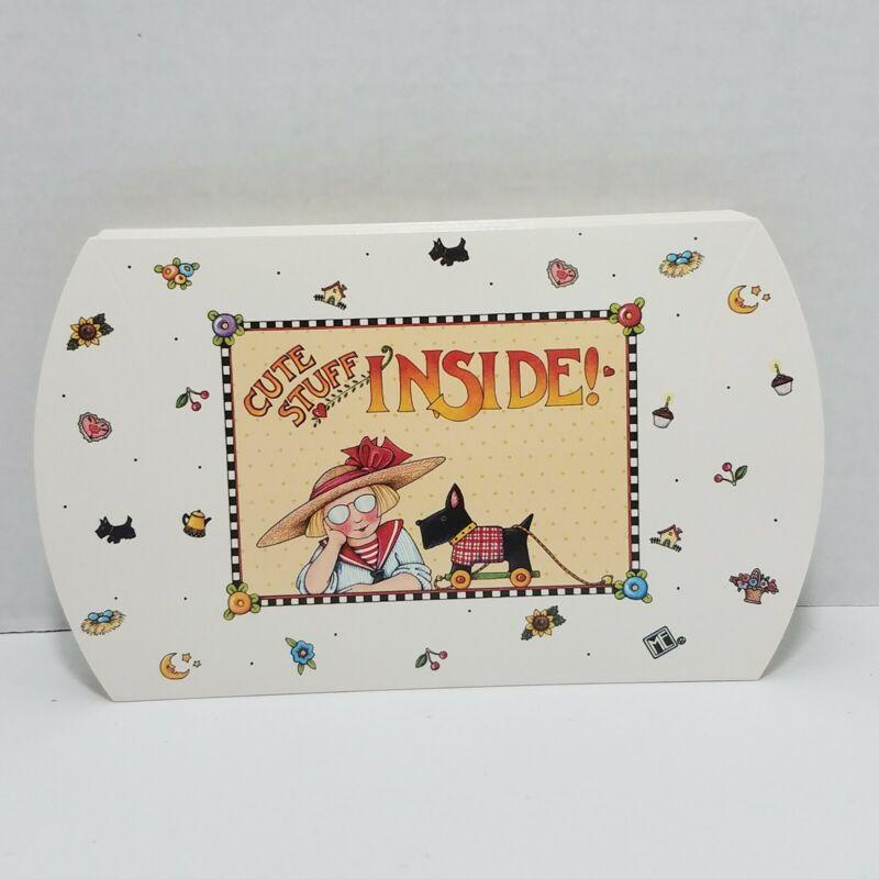 "Mary Engelbreit 6 Cute Stuff Inside Gift Mini Boxes Lot Unused 5""- 4.25"" - 1.25"""