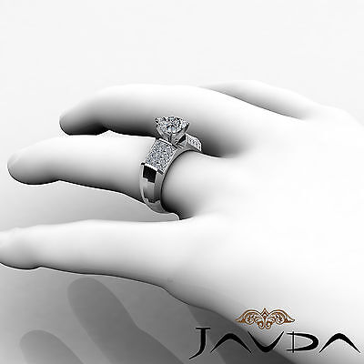 Heart Cut Diamond Engagement Prong Invisible Setting Ring GIA I Color SI1 2.2Ct 3