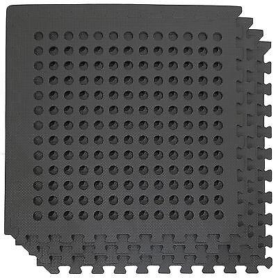 Interlocking EVA Soft Foam Floor Mats Drainage Garden Garage Tiles Play Mat Gym