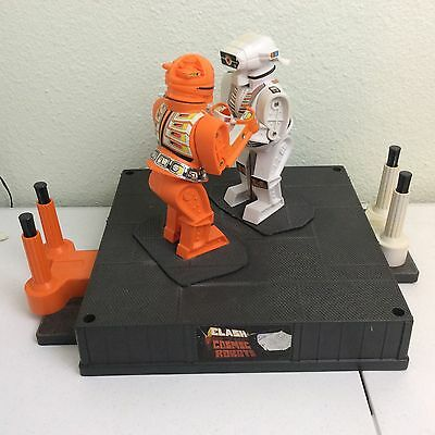 Vtg 1966 Marx Clash Of The Cosmic Robots Rockem Sockem Game Toy Works