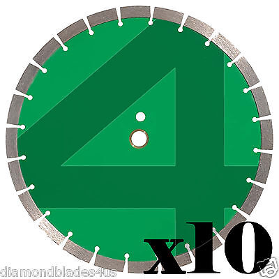 10 - 14 Diamond Saw Blade 4 Concrete Brick Block Stone Rock Masonry 15mm