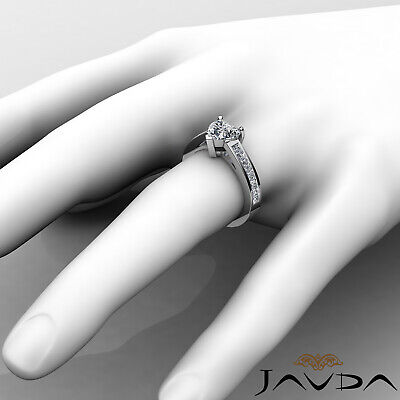 4 Prong Channel Setting Womens Heart Cut Diamond Engagement Ring GIA F VS2 1.5Ct 2