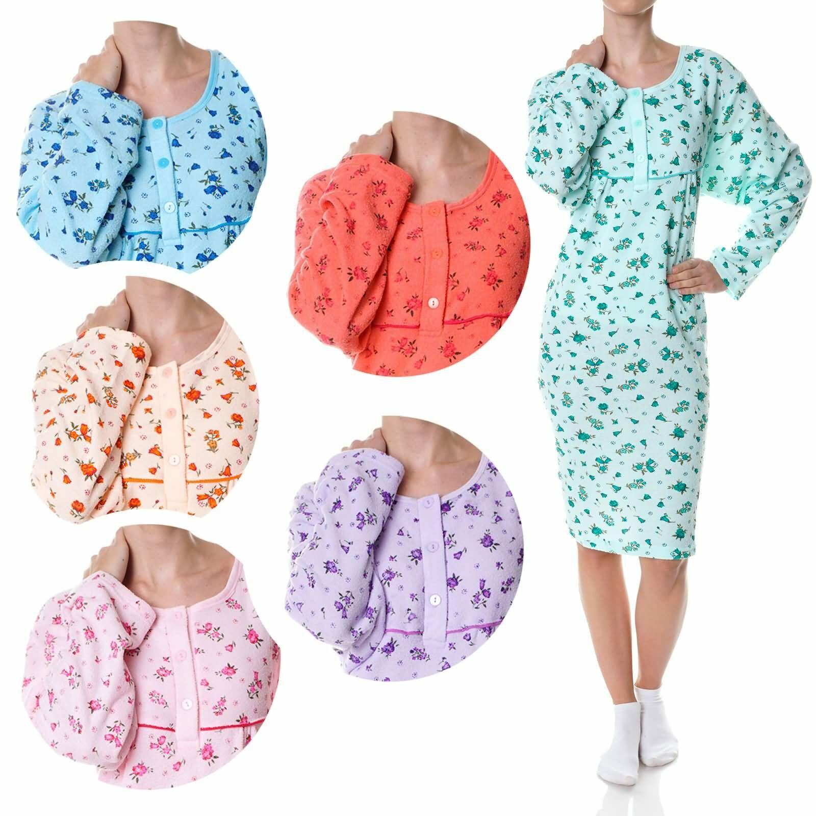 Damen Nachthemd Nachtwäsche Schlafshirt Nighty Sleepshirt Negligee Kleid 21693