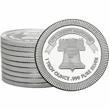 Liberty Bell Stackables 1oz .999 Silver Medallion 10pc