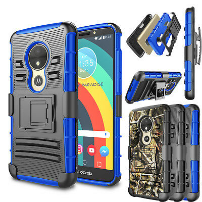 For Motorola Moto E5 Play   E5 Cruise Case Shockproof Clip Holster Stand Cover