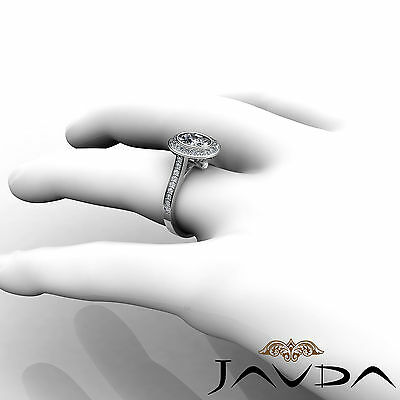 1.5 ct Brilliant Cut Oval Diamond Engagement 14k White Gold I SI1 GIA Halo Ring 4