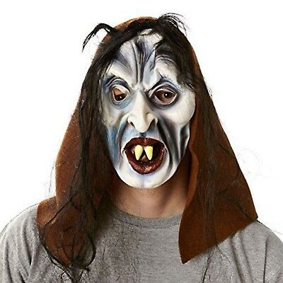 haar und Kapuze Schrumpelhexe Party Karneval Halloween  Mask (Kunst Und Halloween)