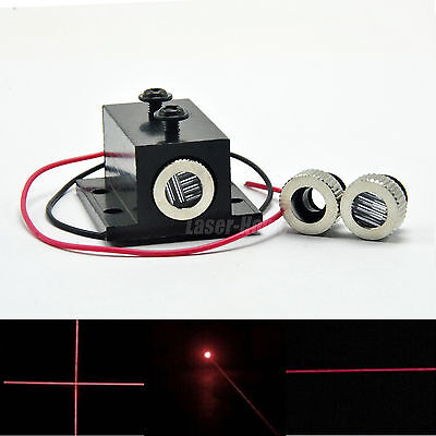 650nm 5mw Red Focusable Dot Line Cross Laser Diode Module Heatsink Cooling
