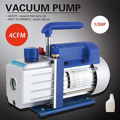 13hp 4cfm Rotary Vane Deep Vacuum Pump 110v Hvac Ac Refrigerant Charge