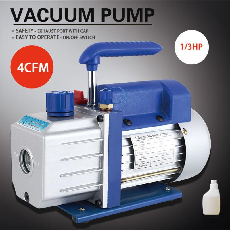 1/3HP 4CFM Rotary Vane Deep Vacuum Pump 110V HVAC AC Refrigerant Charge