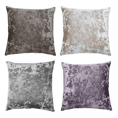 """Belle Maison Luxury Glam Crushed Velvet 18"""" Square Scatter Filled Cushion Covers"""