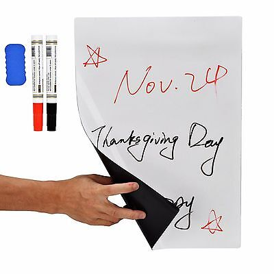17 X 11 Dry Erase Magnetic Refrigerator Flexible White Board Planner Message