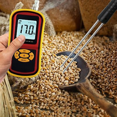 Gm640 Digital Grain Moisture Meter Wheat Rice Humidity Tester Damp Detector