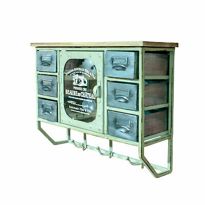 Vintage Retro Style Apothecary Metal Wall Storage Cabinet With Drawers (DI25)