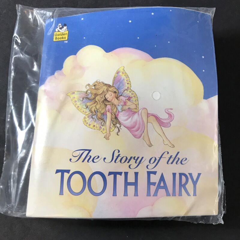 """Story of the Tooth Fairy Book With """"My Very Own Tooth"""" Pillow Plush 1990 Vintage"""