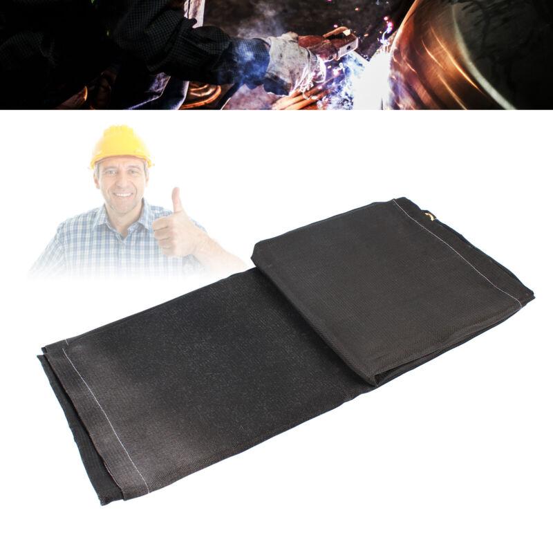 6x10FT Welding Fire Flame Fiberglass Blanket Fire Retardant Blanket Black