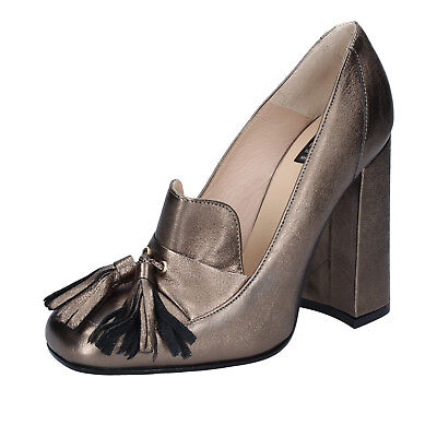 women's shoes ISLO ISABELLA LORUSSO 7 (EU 40) courts grey leather BZ227-F