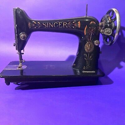 Used, 1911 RARE LOTUS DECOR ANTIQUE ORIGINAL SINGER 66 ART NOUVEAU SEWING MACHINE  for sale  Shipping to Nigeria