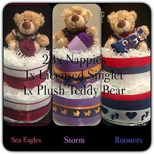 Baby Shower Gift NRL Nappy Cake Loganholme Logan Area Preview
