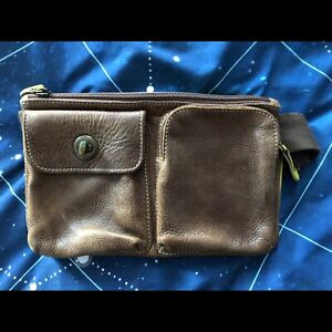 Roots all leather hip bag / fanny pack