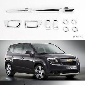 Chrome Front Rear Exterior  Molding Trim Cover for 10+ Chevrolet Orlando