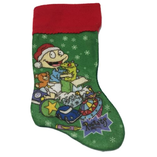 Vintage Rugrats 14 Christmas Stocking Tommy Pickles Reptar Nickelodeon Felt 90s - $19.99
