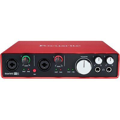 FACTORY B-STOCK - FOCUSRITE SCARLETT 6i6 (2ND GEN) USB AUDIO INTERFACE Auth