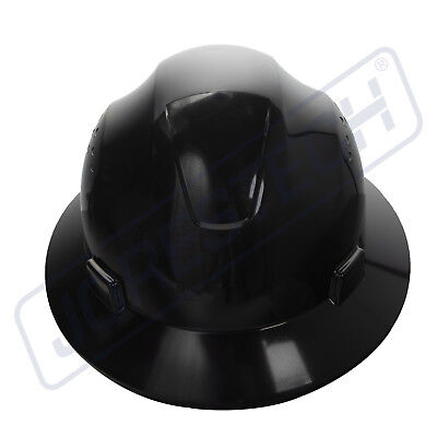 7943b02f03a Black Hard Hat Full Brim Jorestech 4 Point Ratchet Suspension Construction