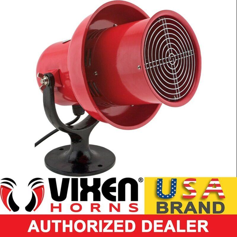 INDUSTRIAL ELECTRIC MOTOR AIR RAID SIREN ALARM SCHOOL/FACTORY LOUD 120V VXS-8100