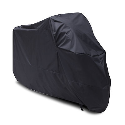 Motorcycle Waterproof Outdoor Indoor Motorbike Rain Vented Bike Cover XL Black