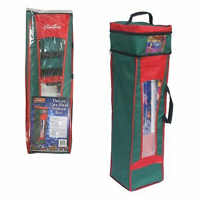 Wrapping Paper Storage Bag- Heavy Duty Christmas Gift Wrap B