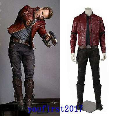 Marvel Guardians of the Galaxy Star Lord Peter Jason Quill Cosplay Halloween - Guardians Of The Galaxy Star Lord Kostüm