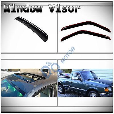 3pcs Vent Shade Window+Sun/Moon Roof Visor Fit Ranger/B-Series Regular/Super Cab Drivers Series 3 Piece