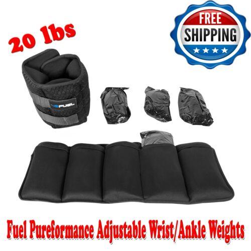 Fuel Pureformance Adjustable Wrist/Ankle Weights, 20-Pound Pair, Build Stamina