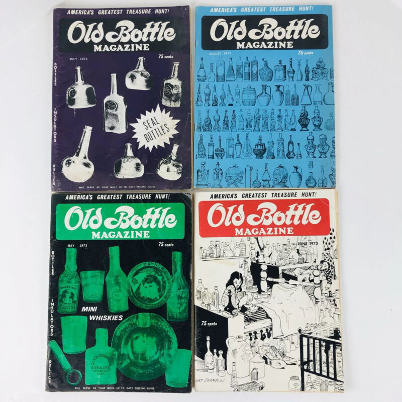 Old Bottle Magazine May-August 1973 Lot of 4