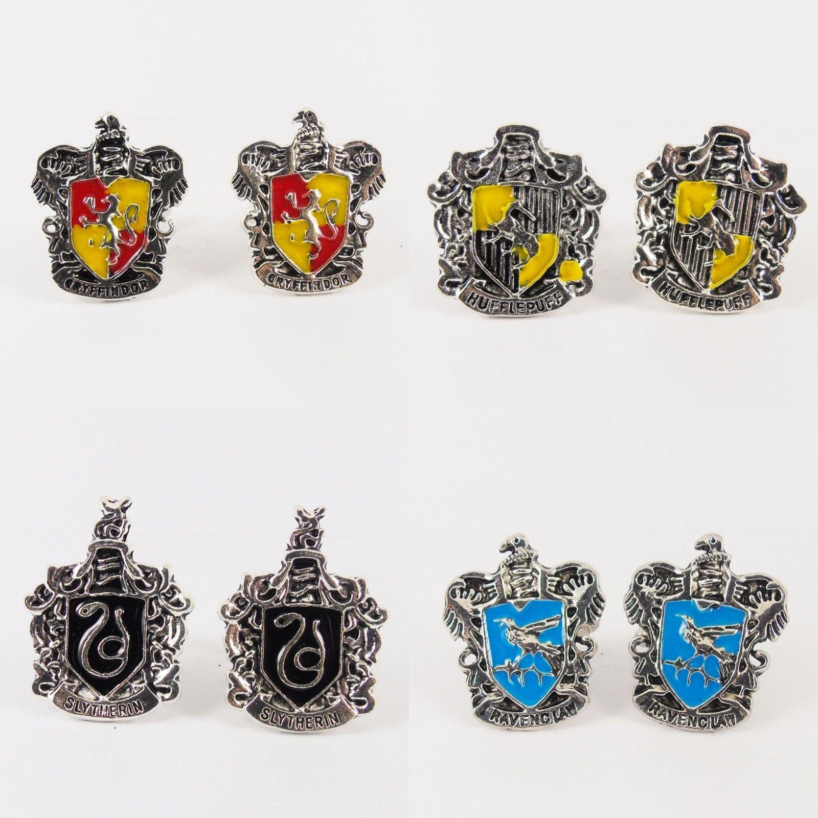 Pottery Literature Cufflinks  Gryffindor Slytherin Hufflepuff Ravenclaw