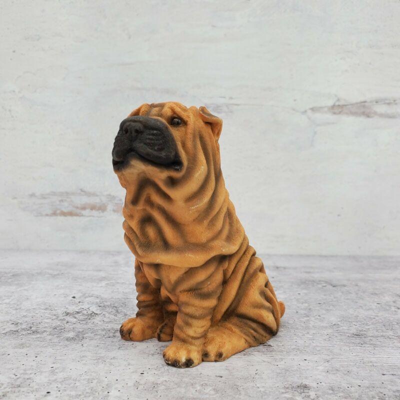 "1988 Castagna Italy Chinese Shar-Pei Resin Sitting Dog Figurine 4.5"""
