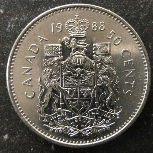 1988 Canada Nickel 50 Cents Half-Dollar
