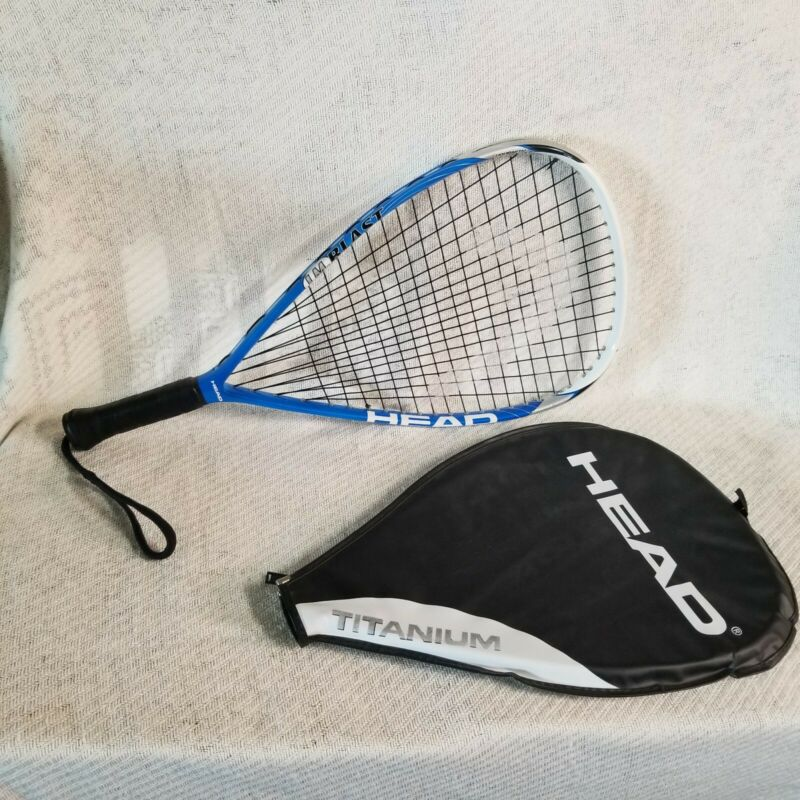 Head LIQUIDMETAL Titanium Liquid metal RACQUETBALL RACQUET BLUE WHITE