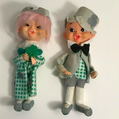 Vintage Made In Japan Leprechaun Boy & Girl St. Patrick
