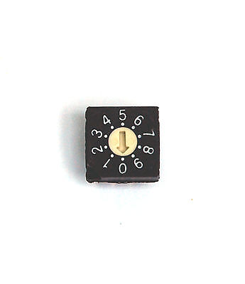 2pc Rotary Dip Switch Bcd Code Rs40012 09 Scale 10x10x4.7mm Hampolt Taiwan