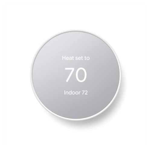 Google Nest Smart Programmable Wifi Thermostat Snow New