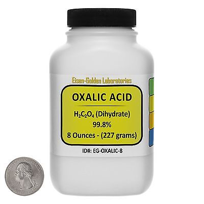 Oxalic Acid C2h2o4 99.8 Acs Grade Powder 8 Oz In A Space-saver Bottle Usa