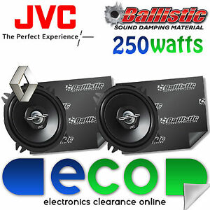 Renault Megane JVC 13cm 250Watts 2 Way Front Door Car Speakers & Sound Deadening