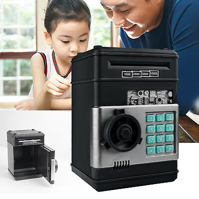 Combination Lock Money Box Code Key Coins Cash Saving Piggy Bank Gift (Cash Box Bank)