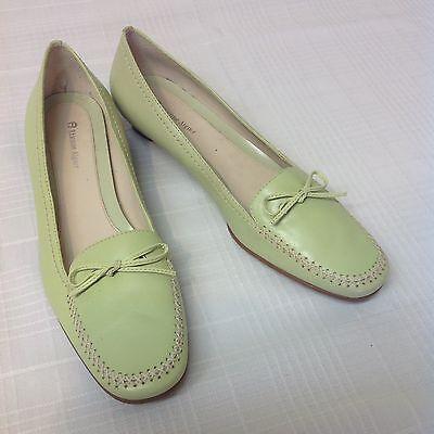 Etienne Aigner Sz 9 M Light Kiwi Lime Green Loafer Low Heels Career Comfort Flat ()