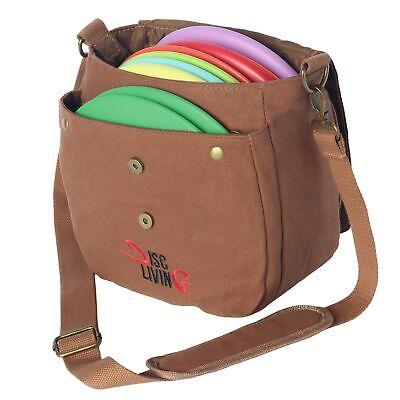 Disc Living Disc Golf Bag | Frisbee Golf Bag | Lightweight Fits Up to 10 Disc...